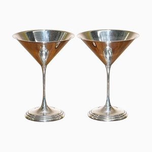 Verres à Martini Entièrement Poinçonnés en Argent Sterling, Sheffield, 1996, Set de 2