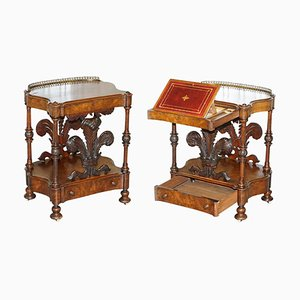 Victorian Burr Walnut Writing Desk