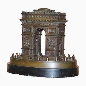 19th Century Bronze Statue of the Arc De Triomphe