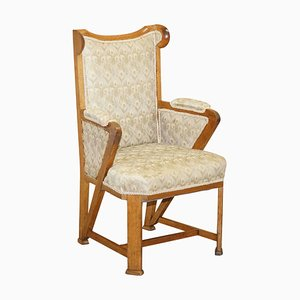 Victorian Carved Wingback Armchair