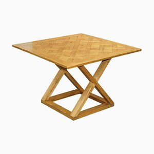 Large Pegged Oak Halo High Bar Table for 8-12 People