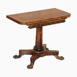 Table à Thé en Bois Rouge de J Kendall & Co, 1830s