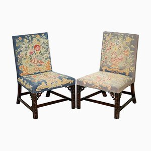Embroidered Chairs, 1760s, Set of 2
