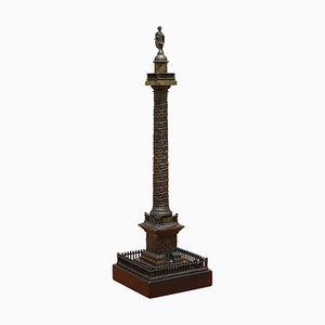Bronze Column on Marble Base, 1860s