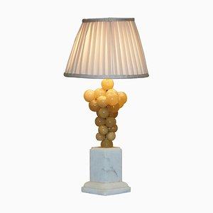 Carrara Marmor Lampe mit Alabaster Trauben von Freddy Rensonnet