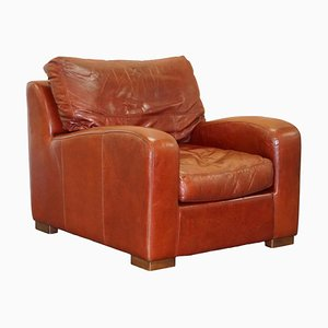 Duresta Panther Brown Leather Armchair