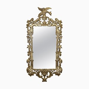 Giltwood Eagle Hand-Carved Tall Mirror, 1940s
