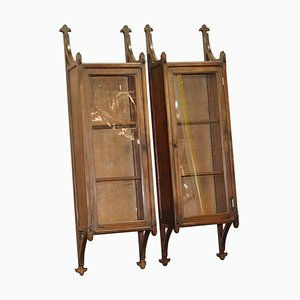 19th Century Gothic Revival Wall Hanging Cabinets, Set of 2