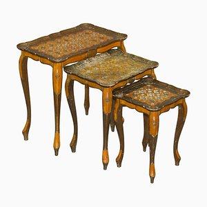 Tische von Serraglini Firenze, Italien, 3er Set