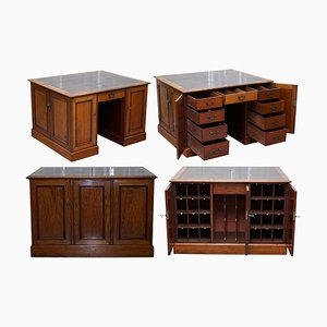 George III Double Sided Postmaster's Sorting Desk from Gillows of Lancaster, 1794