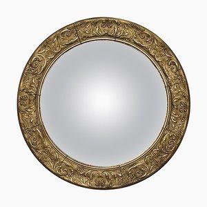 Nautischer Convex Spiegel im Regency Stil aus vergoldetem Holz & Gips