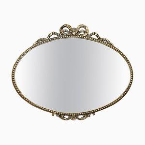 Massiver Spiegel mit Metallrahmen, 1940er