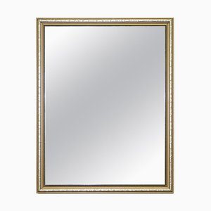 Vintage Gold and Silver Leaf-Plated French Mirror