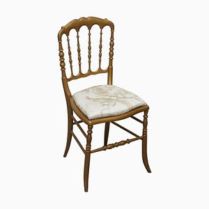 Gold Gilt Wood Spindle Chair, 1900s