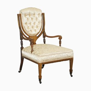 Redwood Sheraton Revival Chesterfield Library Armchair