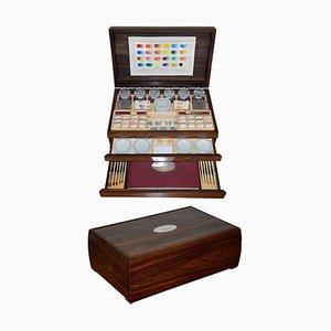 Queen Elizabeth Jubilee Box in Sterling Silver from Windsor & Newton, 1977