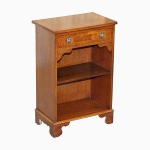 Vintage Flamed Hardwood Shelf with Single Drawer from Bevan Funnell