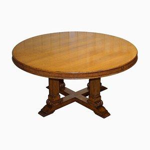 Großer runder ausziehbarer ovaler Esstisch für 6-10 Personen von Ralph Lauren