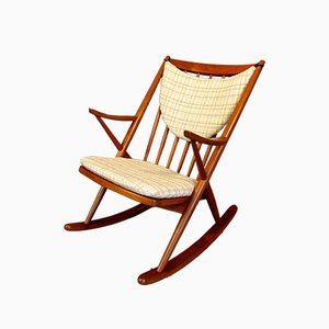 Danish Teak Gyngestol Model 182 Rocking Chair by Frank Reenskaug for Bramin, 1958