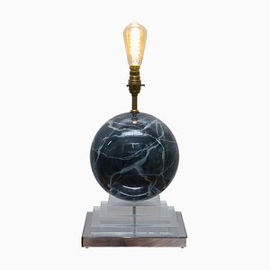 Vintage Round Marble Finish Lamp