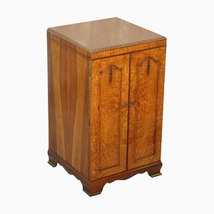 Burr Walnut Art Deco Drinks Cabinet
