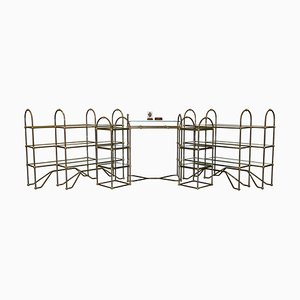 Art Deco Shop Shelves or Racks from Liberty of London, 1930s, Set of 7