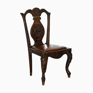 Chinese Export Dining Chair with Chimera & Dragons, 1890s