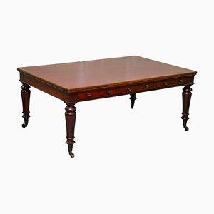 Viktorianischer doppelseitiger Partner-Schreibtisch aus Hartholz von Holland and Sons