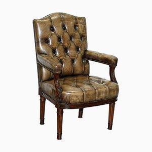 Antiker georgischer Gainsborough Carver Armlehnstuhl