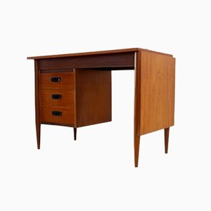 Danish Teak Drop Leaf Writing Desk by Arne Vodder, 1960s