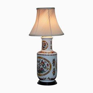 Jarrón decorativo chino convertido en lámpara de mesa