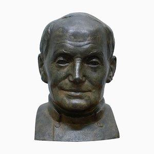 Großer Bronzekopf des Russischen Priesters von James Bourlet & Sons LTD, 1840er