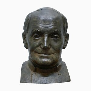 Large Bronze Head of Russian Priest from James Bourlet & Sons LTD, 1840s