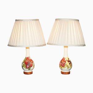 Vintage Converted Vase Lamps from Moorcroft, Set of 2