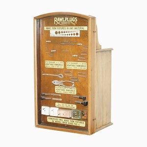 Rawl Plug Verkaufsschrank mit Schubladen und Vitrine, 1950er