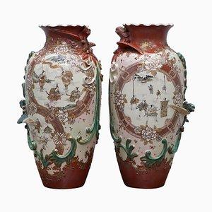 Große chinesische Vasen, 19. Jh., 2er Set