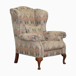 Vintage Wingback Armchair with Ianthe Upholstery from Liberty London