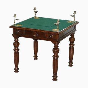 Tavolo da gioco vittoriano con cassetti segreti e bottoni, metà XIX secolo
