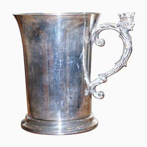 Tazza antica placcata in argento con manico King di Liberty & Co