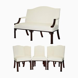 Chinese Number 10 Downing Street Sofa & Armchairs, Set of 4