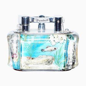 Englisches Aquarium Feuerzeug von Dunhill, 1950er