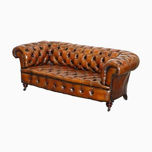 Victorian Brown Chesterfield Leather Sofa from Cornelius v. Smith, 190s