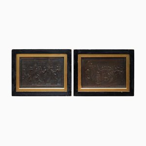 John Henning after Raphael Grand Tour, Bronze Plaques, 1821, 2er Set