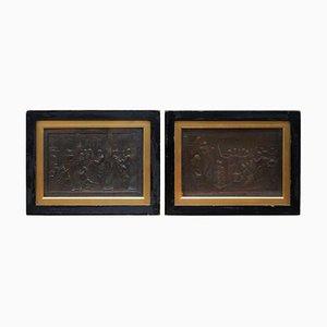 John Henning after Raphael Grand Tour, Bronze Plaques, 1821, Set of 2