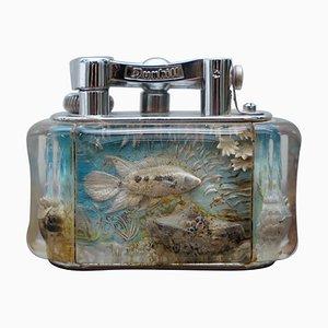 Englisches Chrom Aquarium Feuerzeug von Dunhill