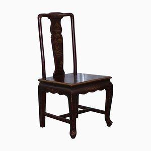 Antiker chinesischer lackierter Stuhl mit Bonsai Details