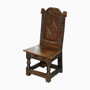 Small 18th Century Carevd Fruitwood Chair, 1760s