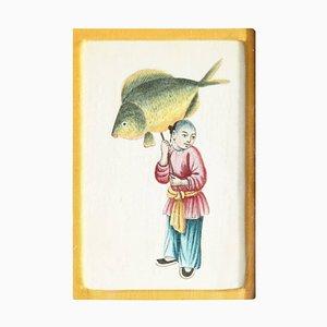 Chinesisches Aquarell, 19. Jh. Von Liberty London