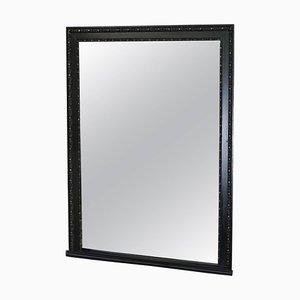 Großer viktorianischer handgeschnitzter ebonisierter Rahmen aus Spiegelglas