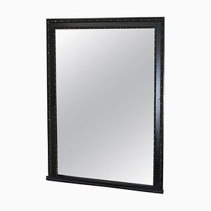 Large Victorian Mirror Glass Hand-Carved Ebonised Frame